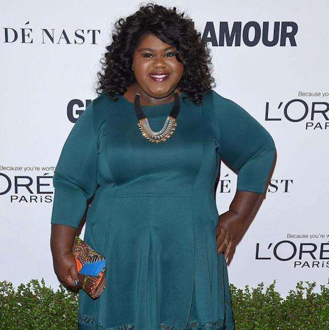 Gabourey Sidibe arrives at Glamour Women of the Year 2016. (Photo: Axelle/Bauer-Griffin/FilmMagic)