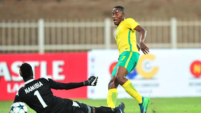 Lebohang Maboe (brace), Aubrey Modiba and Siyanda Xulu all netted for Bafana, while Deon Hotto scored a consolation for the Brave Warriors