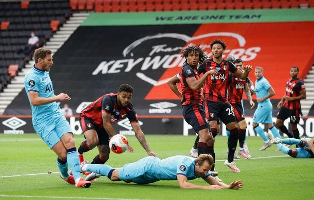 Kane should have had a penalty against Bournemouth