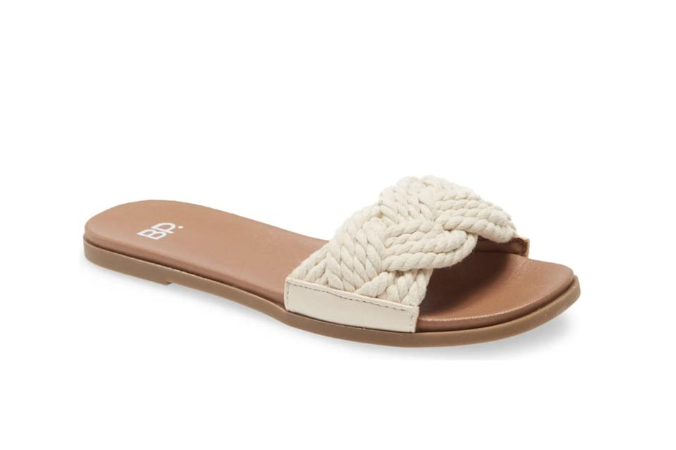 <p>These <span>BP. Santos Slide Sandals</span> ($35) are incredibly versatile, making them perfect for beach days or weekends in the city.</p>