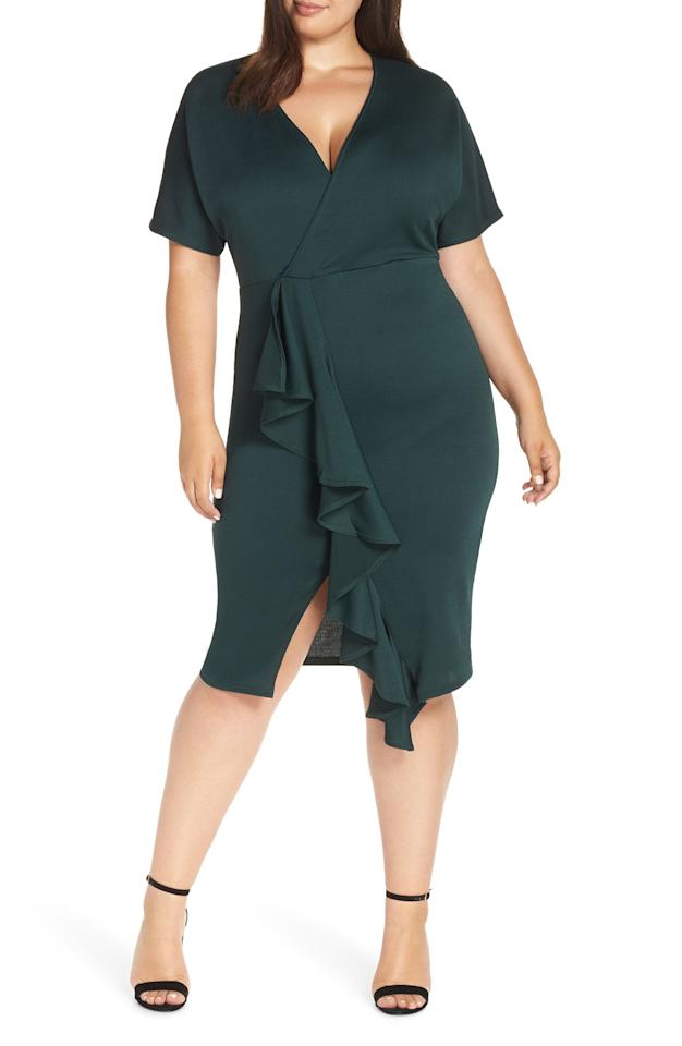 "<h2>Lost Ink Plus Ruffle-Front Dress</h2> <p>SHOP NOW: <a rel=""nofollow"" href=""https://www.bloomingdales.com/shop/product/lost-ink-plus-ruffle-front-dress?ID=3169915&CategoryID=5467#fn=ppp=undefined&sp=NULL&rId=NULL&spc=506&cm_kws_ac=plus%20size&spp=64&pn=1%7C6%7C64%7C506&rsid=undefined&smp=matchNone"" rel=""nofollow"">Bloomingdale's</a>, $48</p>"