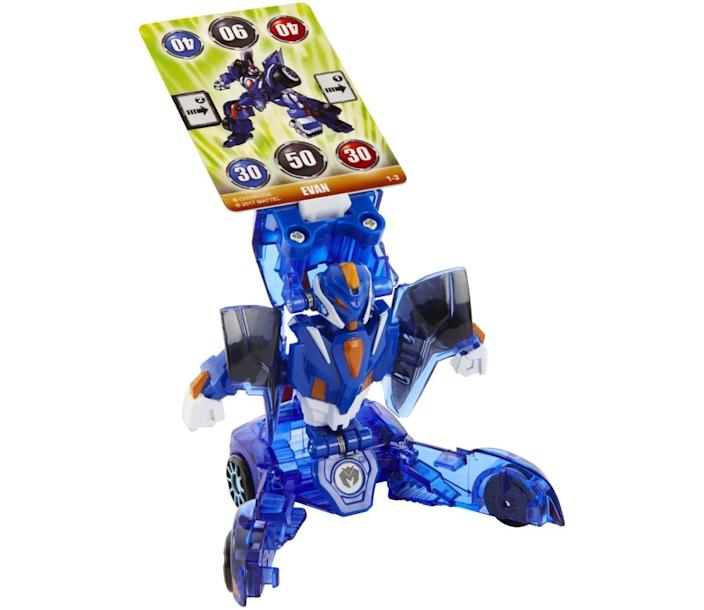 MECARDs transform from vehicles into battle bots.