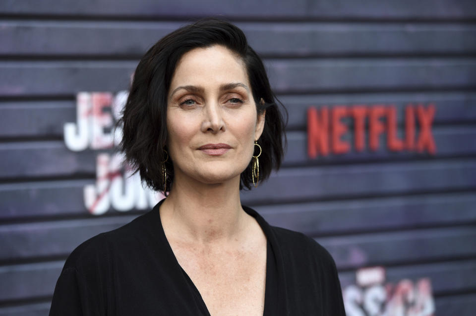 Carrie-Anne Moss, a cast member in the Netflix series