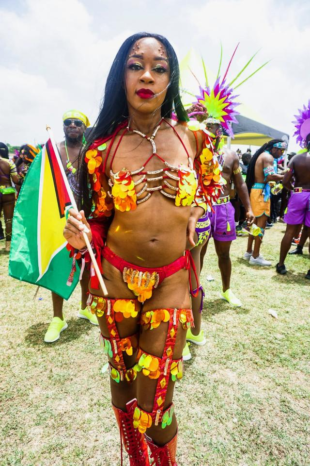 """<p><strong>Was there anything you were scared to show off?</strong> Sometimes I'm a little self-conscious about being so small, but carnival is about freedom and representation of all body types, so, no.<br><strong>What can you say about the hypersexualization of carnival?</strong> It's really about who you are on the inside. Whatever you're comfortable with. You don't have the """"wine"""" and Wuk-Up [dance] all the time. You can just go and walk and enjoy it.<br><strong>How have you overcome body-image and self-esteem issues? How does carnival play into that?</strong> It plays 100 percent into it because just being so dressed up and gorgeous, just beautiful, how could you not feel yourself at that point?<br>(Photo: Noel Walker for Yahoo Lifestyle) </p>"""