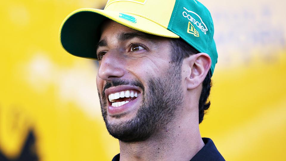 Daniel Ricciardo, pictured here before the Australian Grand Prix was cancelled.