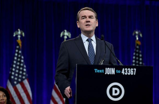 PHOTO: Democratic presidential candidate and Sen. Michael Bennet speaks during the Democratic Presidential Committee (DNC) summer meeting, Aug. 23, 2019, in San Francisco, Calif. (Justin Sullivan/Getty Images, FILE)