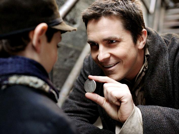 <p>Christian Bale in Christopher Nolan's 'The Prestige'</p>Warner Bros Pictures