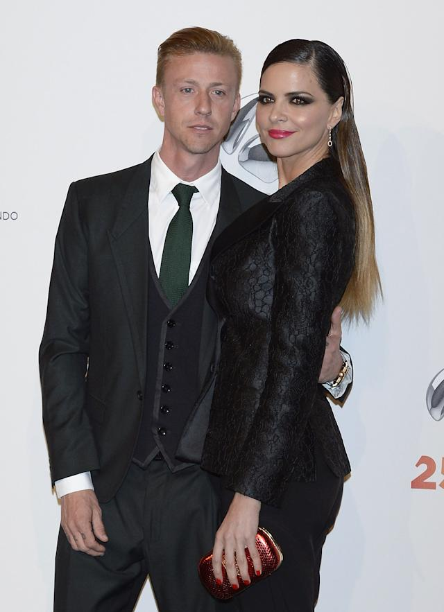 Guti y Romina Belluscio juntos en un photocall. (Photo by Fotonoticias/WireImage)