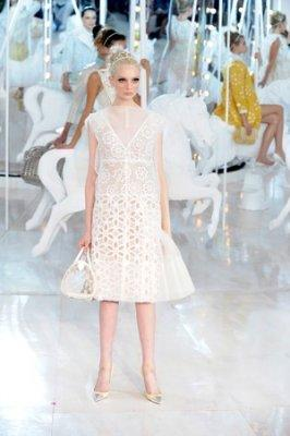Crystal Copland opens the Louis Vuitton show in Paris. Photo by Giovanni Giannoni via WWD