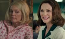 In <em>Suburbicon</em>, Moore played twin sisters Rose and Margaret (right) in the George Clooney movie, though one lasts longer in the movie than the other. (Credit: eOne)
