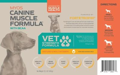 MYOS RENS Technology Launches Exclusive 'Veterinarian Strength' Myos Canine Muscle Formula