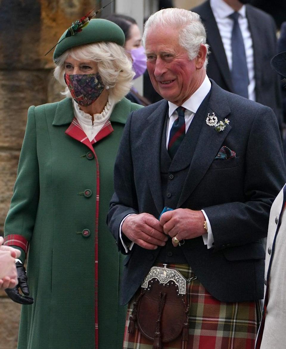 Camilla and Charles arrive at the Scottish Parliament (Andrew Milligan/PA) (PA Wire)