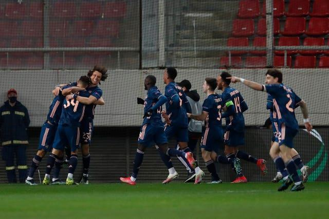 Arsenal secured a 3-1 win at Olympiacos on Thursday despite further defensive errors.