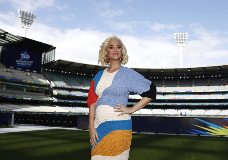 Katy Perry made a public appearance in Melbourne, Australia after announcing her pregnancy. (Photo: Ryan Pierse/Getty Images)