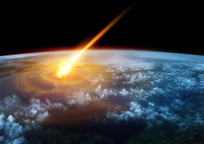 A meteor entered the Earth's atmosphere at the end of last year and exploded (Picture: Getty)