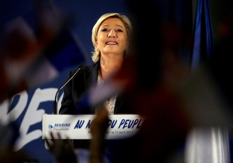 French presidential election candidate for the far-right Front National (FN) Marine Le Pen