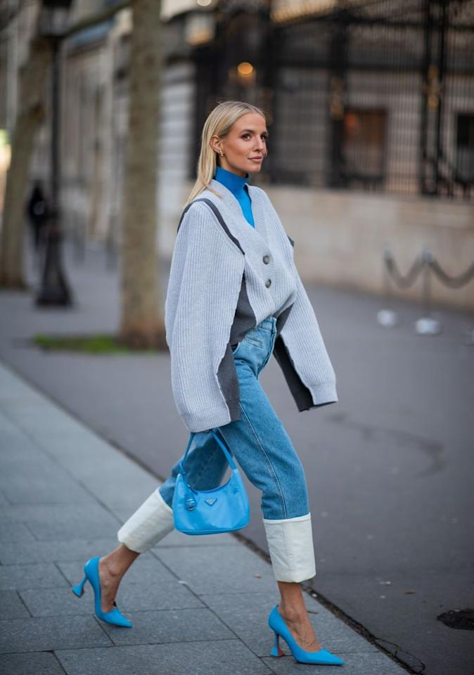<p>The humble grandad cardigan is enjoying a resurgence of late; avoid looking too preppy by wearing yours oversized and tucked into jeans. </p>