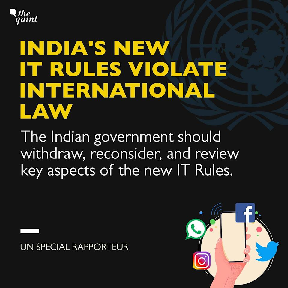 UN expresses concern over India's new IT Rules