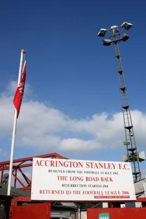 General view of The Crown Ground, home to Accrington Stanley