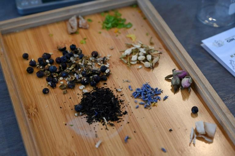 Students at this Singapore gin school are encouraged to get creative and build their own flavour profile -- citrus, floral, herbal, or spicy -- blending classic ingredients such as juniper and coriander seeds with those used in local cuisines (AFP Photo/Roslan RAHMAN)