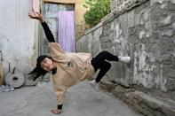 Manizha Talash is the only female member of a breakdancing group, an activity banned under the Taliban