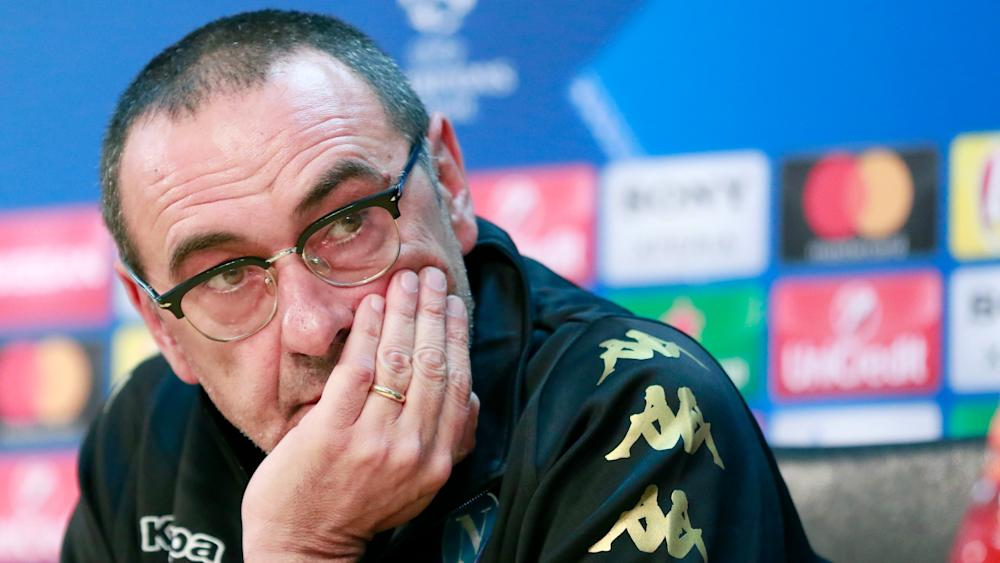 Maurizio Sarri press conference Napoli Real Madrid UCL