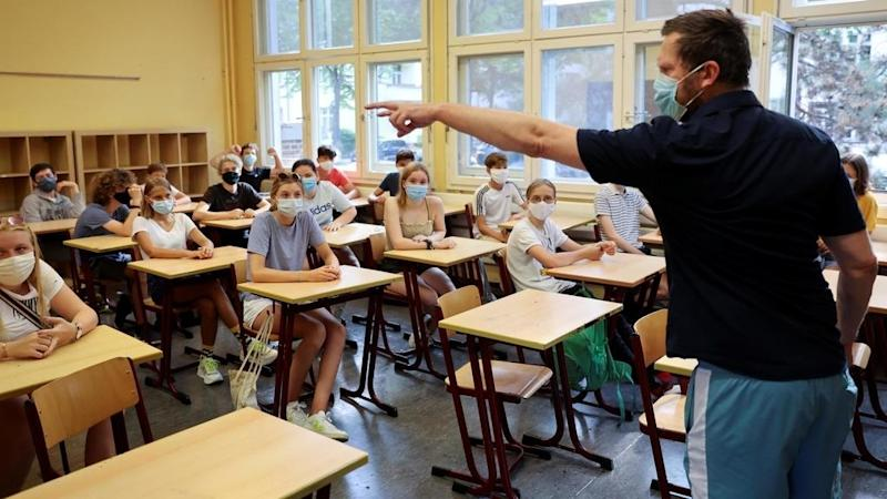 French teachers prepare for heavily masked school re-opening