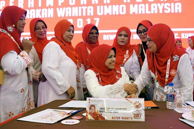 Shahrizat (centre) said the achievements marked and history made by Malaysian women would reflect the success of her leadership and her legacy, whereas the opposite would be a display of her failure. — Bernama pic