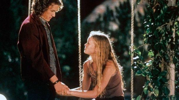 PHOTO: Heath Ledger and Julia Stiles are pictured in a scene from the film '10 Things I Hate About You' released in 1999.  (Archive Photos/Getty Images, FILE)