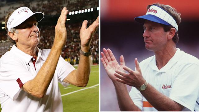 """Steve Spurrier has ties to both schools — but who is the """"Head Ball Coach"""" rooting for?"""