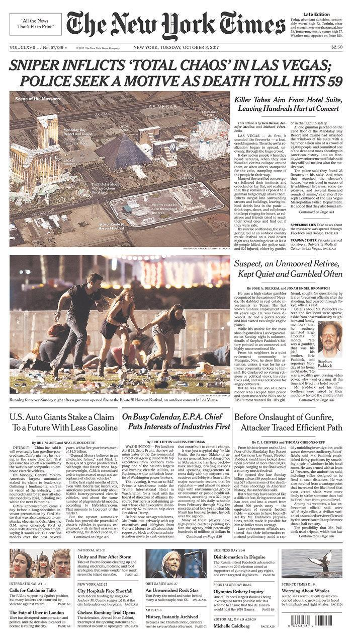 """<p>""""The New York Times,"""" published in New York, N.Y. (newseum.org) </p>"""