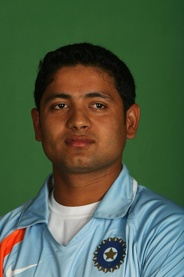 NORTHAMPTON, UNITED KINGDOM - AUGUST 17:  Piyush Chawla poses for a photograph during a photo call at the Marriott Hotel on August 17, 2007 in Northampton, England.  (Photo by Bryn Lennon/Getty Images)
