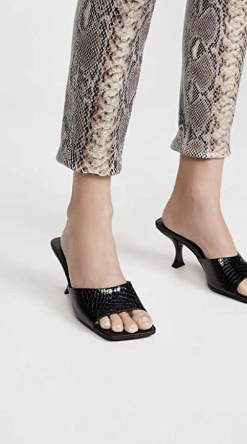 <p>We're feeling the textured look of these <span>Jeffrey Campbell Mr-Big Mules</span> ($92-$95).</p>