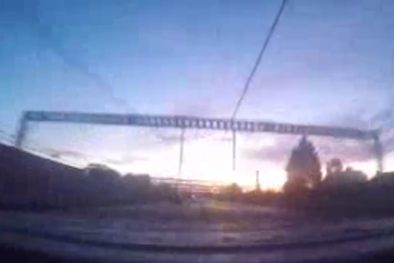 The teens filmed themselves leaning above the train as it travelled at high speed (BTP)