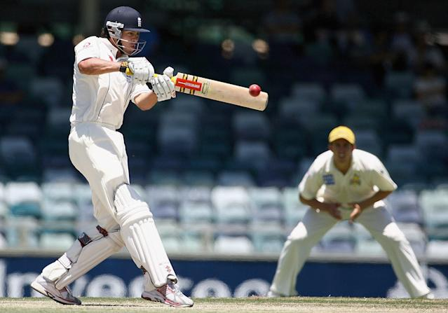<p>England's 2006/2007 tour to Australia was brutal, but one positive was Cook's century at Perth (Getty Images) </p>