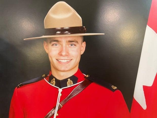 RCMP confirmed that Const. Shelby Patton died while on duty in Wolseley, Sask., on Saturday. (CBC/Mickey Djuric - image credit)