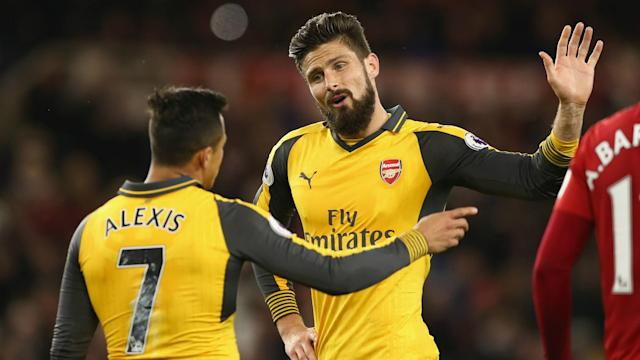 Arsenal were far from convincing in their 2-1 win at Middlesbrough, but Arsene Wenger was delighted with his players' mentality.