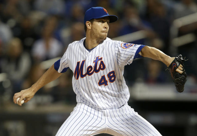 Mets ace Jacob deGrom is one of the safest pitchers to draft next season. (Photo by Jim McIsaac/Getty Images)