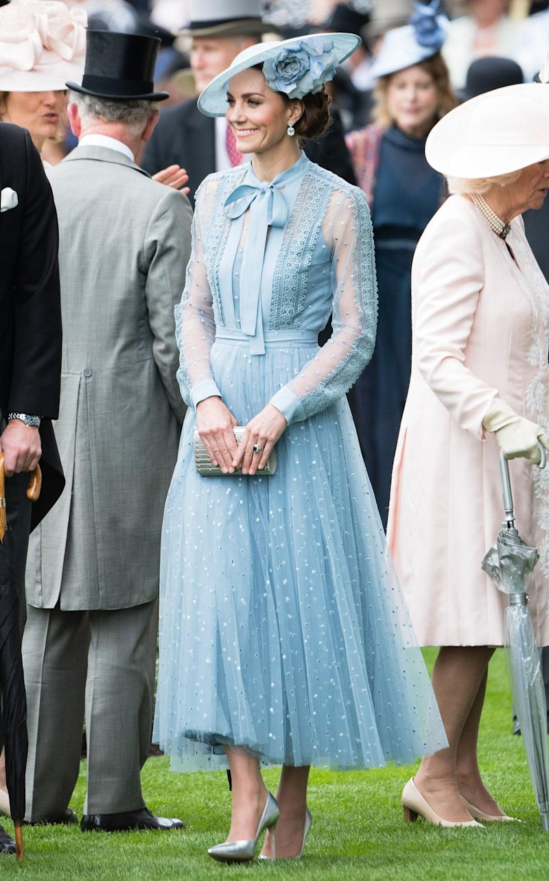 In Elie Saab at the Royal Ascot.