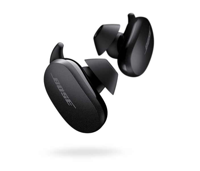 """<p><strong>Bose</strong></p><p>amazon.com</p><p><strong>$279.00</strong></p><p><a href=""""https://www.amazon.com/dp/B08C4KWM9T?tag=syn-yahoo-20&ascsubtag=%5Bartid%7C2139.g.19521968%5Bsrc%7Cyahoo-us"""" rel=""""nofollow noopener"""" target=""""_blank"""" data-ylk=""""slk:BUY IT HERE"""" class=""""link rapid-noclick-resp"""">BUY IT HERE</a></p><p>Bose took everything we loved about the gold standard 700 style and somehow jammed all of that greatness into sleek buds that have the most effective noise-cancelling technology we tested. Loaded with 11 adjustable levels of active noise-cancellation, they can even silence the most chaotic, noisy environment. They're not the smallest, but the secure fit (with various ear tip sizes) ensures they won't pop out of your ears when you're training hard. The touch panels on the earbuds allow you to have full control with minimal movement, as you enjoy up to 6 hours of tunes.</p>"""