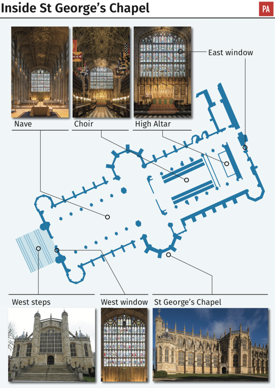 St George's Chapel in Windsor [Photo: PA]