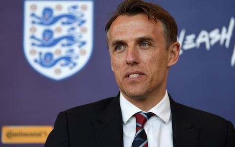 Phil Neville says he will not ban his England players from social media during the World Cup  - Credit: PA