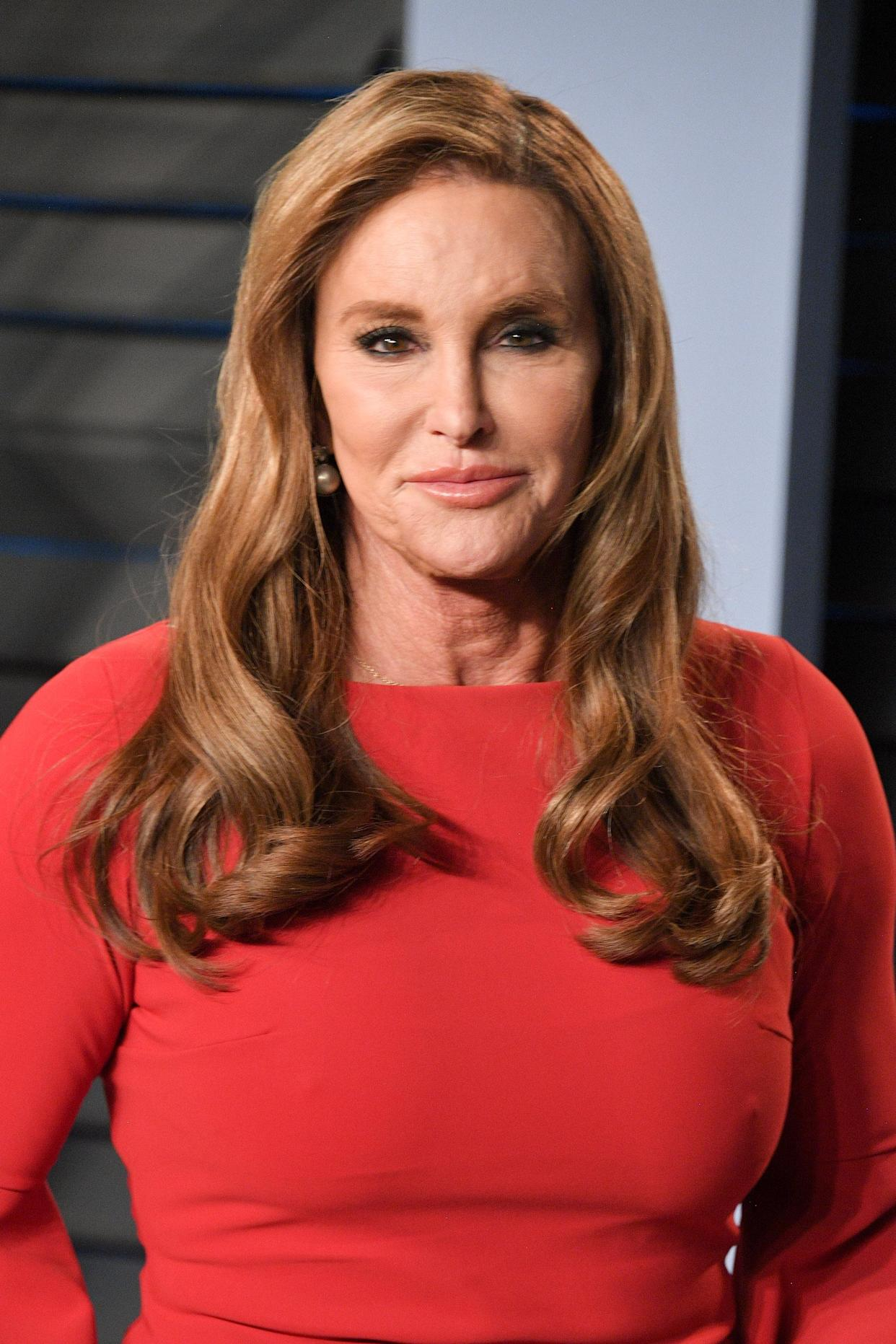 Caitlyn Jenner, at the 2018<em> Vanity Fair</em> Oscar Party on March 24, has skin cancer. (Photo: George Pimentel/WireImage)