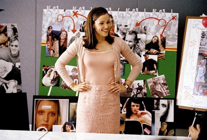 """<p><a href=""""https://www.oprahdaily.com/life/a25850328/jennifer-garner-best-instagram-pictures-videos/"""" rel=""""nofollow noopener"""" target=""""_blank"""" data-ylk=""""slk:Jennifer Garner"""" class=""""link rapid-noclick-resp"""">Jennifer Garner </a>checks all the boxes. <a href=""""https://www.oprahdaily.com/entertainment/tv-movies/a26868666/new-on-netflix-april-2019/"""" rel=""""nofollow noopener"""" target=""""_blank"""" data-ylk=""""slk:Dramas"""" class=""""link rapid-noclick-resp"""">Dramas</a>, <a href=""""https://www.oprahdaily.com/entertainment/tv-movies/g25804986/new-romantic-comedies-2019/"""" rel=""""nofollow noopener"""" target=""""_blank"""" data-ylk=""""slk:romantic comedies"""" class=""""link rapid-noclick-resp"""">romantic comedies</a>, action flicks...she transcends any single genre. Her role in <em>Elektra</em> even brought her into the Marvel universe. From her early days on TV shows like<em> Law & Order</em> and the <em>Party of Five</em> spin-off, <em>Time of Your Life</em>, it was clear that she was one to watch. After more than 20 years in the acting game, it's not easy picking favorites but... we tried. Here are the films you need to screen for the ultimate Garner movie marathon. </p>"""