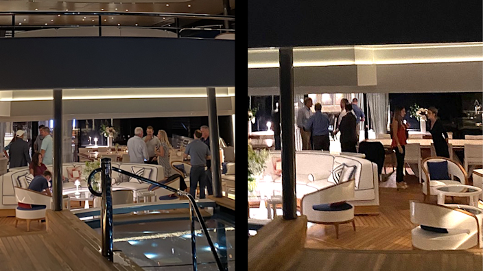 Jeffrey Soffer hosted fundraisers for Florida Senate President Wilton Simpson on Sept. 27 (right) and Florida House Speaker Chris Sprowls on Sept. 28 (left) on board his superyacht the Madsummer.