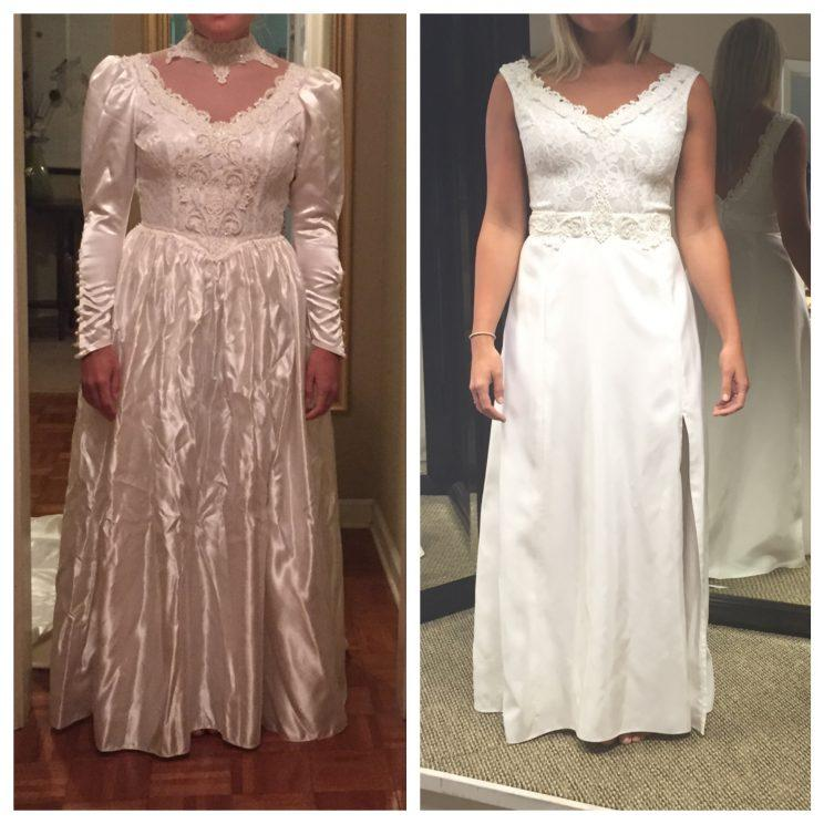 Bride Totally Transforms Her Mother\'s \'80s Wedding Gown