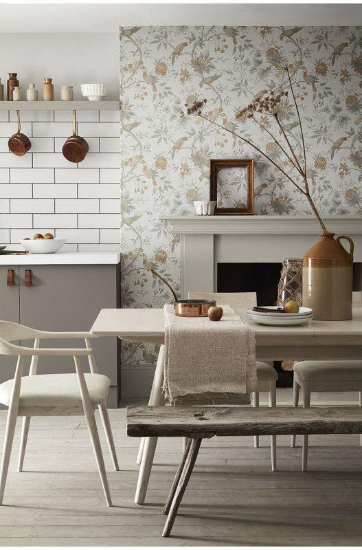 """<p>A feature wall by any other name. A plain chimney breast is a perfect opportunity to introduce interesting wallpaper in a small way. It can compliment your colour scheme or go totally against it for something more eye catching. </p><p>Pictured: <a href=""""https://www.littlegreene.com/catalog/product/view/id/35262/s/brooke-house-cinder/category/43/"""" rel=""""nofollow noopener"""" target=""""_blank"""" data-ylk=""""slk:Brooke House Cinder"""" class=""""link rapid-noclick-resp"""">Brooke House Cinder</a>, Little Greene</p>"""