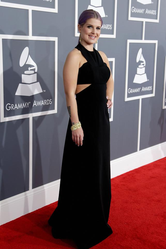 Kelly Osbourne looks put-together in a black Paule Ka gown. Her sleek 'do gave her look a sophisticated finish.