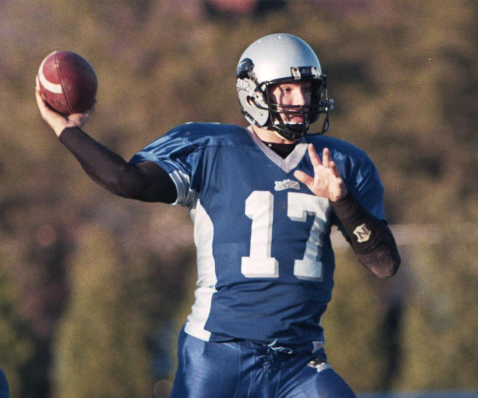 Eastern Illinois QB Tony Romo, pictured here in 2000, was an NFL draft regret of many scouts a generation ago. (Getty Images)