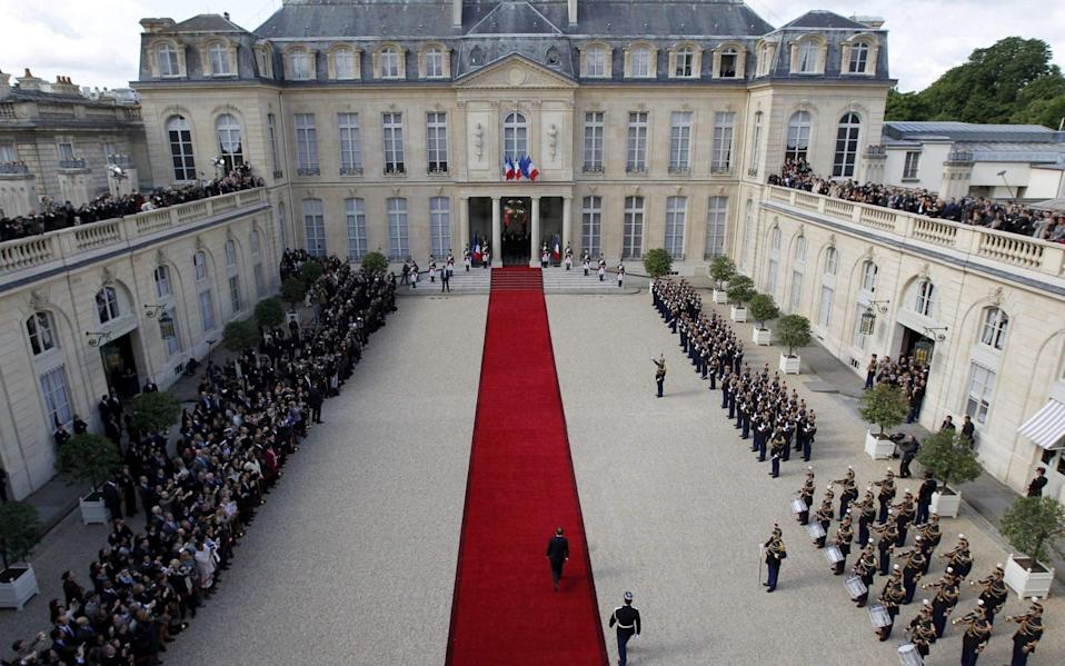A view of the Elysee Palace where President Macron will host the show aimed at boosting the reputation of French business - AFP
